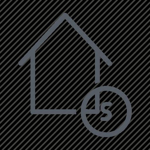 bid, buy, house, money, price, sale icon