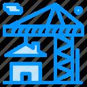building, crane, estate, real