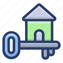 access, door key, home key, safety, unlock icon