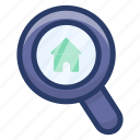 building inspection, home monitoring, house inspection, house search, property search icon