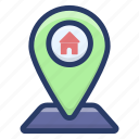 home location, home navigation, house location, landed estate, property location, real estate, real estate location icon