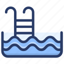 jumping ladder, pool, pool ladder, pool stairs, summertime, swimming, swimming pool ladder icon