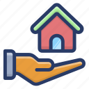 home care, home safety, house care, real estate, save home icon