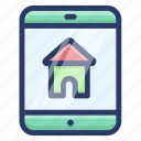 home app, ios app, mobile app, property app, real estate app icon