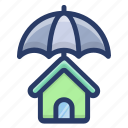 home insurance, home protection, home safety, house protection, property insurance icon
