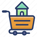 buy home, home ownership, house buying, house purchasing, house shopping icon
