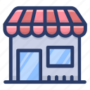 cafe, commercial building, market, shop, store, storefront icon