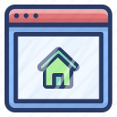 estate marketing, online mortgage, online property, online real estate, real estate website icon