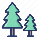 agriculture, botany, ecology, fir trees, pine trees, trees icon