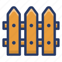 arrowhead barrier, boundary, hurdle, paling, railing, wooden fence icon