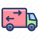 delivery van, goods truck, logistics delivery, truck cargo, vehicle icon