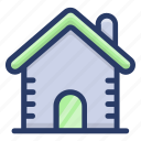 home, house, landed property, real estate, residential building icon