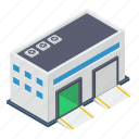 car garage, parking lot, parking space, vehicle garage, workshop icon
