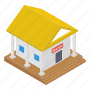 architecture, bank, bank building, depository home, financial institute icon
