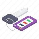 access, car key, key, key chain, master key, passkey icon