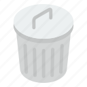 dustbin, garbage can, recycle bin, rubbish bin, rubbish container, trash bin icon