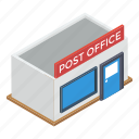 architecture, office, post office, post office building, postal services icon