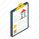 agreement, document, file, house deed, house sale contract icon