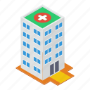 clinic, commercial center, high rise building, hospital building, pharmacy, rehabilitation center icon