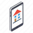 estate marketing, home app, house online, online housing agency, online mortgage property, property application icon