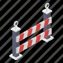 barricade, barrier, construction barrier, road barrier, street barrier, traffic barrier icon