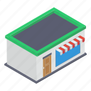 commercial building, commercial shopping mall, marketplace, shopping center, store, storefront icon