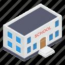 building front, condominium, educational institute, school building, university icon