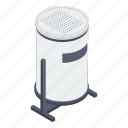 dustbin, recycle bin, road dump bin, trash bin, trash containers icon