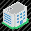 building front, city condo, condominium, residential building, university, university building icon