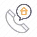 building, call, home, phone, receiver icon