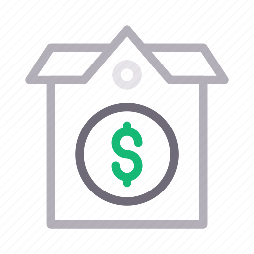building, dollar, house, property, rent icon