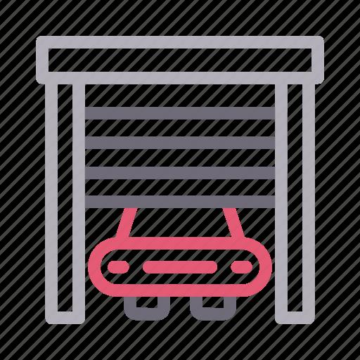 Building, car, garage, home, realestate icon - Download on Iconfinder