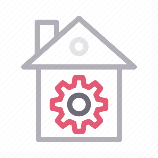 construction, gear, house, property, realestate icon
