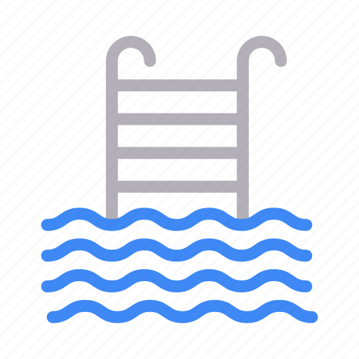 Pool, realestate, stair, swimming, water icon - Download on Iconfinder