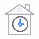 building, clock, home, house, time