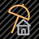 building, home, house, protection, umbrella icon