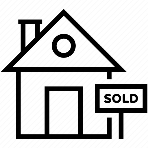 home sold, real estate, sold, sold sign, sold signboard icon