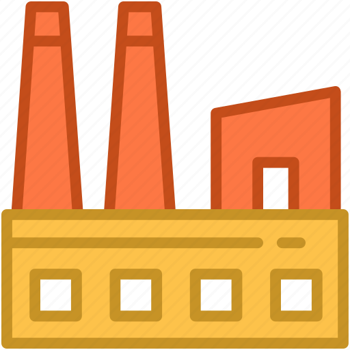 corporate, factory, industry, manufacturer, production unit icon