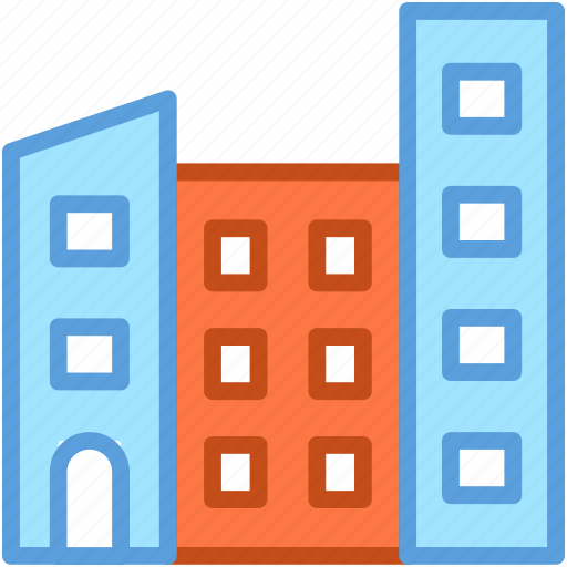 building, flats, housing society, office block, skyscraper icon