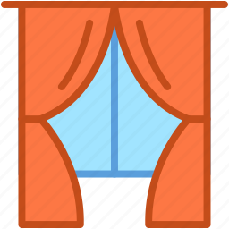 apartment window, curtain, home interior, home window, window icon
