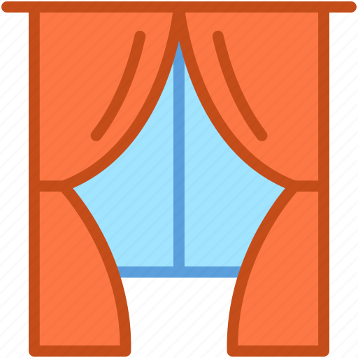 apartment window, curtain, home interior, home window, window icon