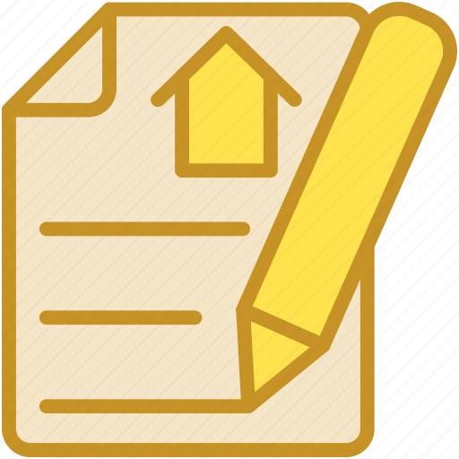 loan agreement, loan application, loan paper, mortgage, property paper icon