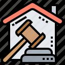 courthouse, judge, lawsuit, legal, litigation icon
