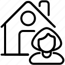 apartment, belongings, buyer, house, landlord, owner, ownership icon