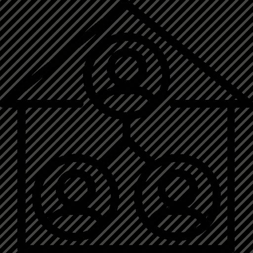 digital real estate, home network, real estate marketing, real estate network, real estate service icon