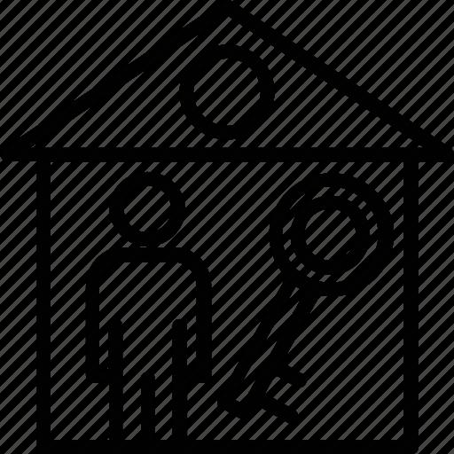 landholder, paying guest, renter, resident, tenant icon