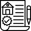 estate contract, house contract, mortgage papers, property agreement, property papers icon