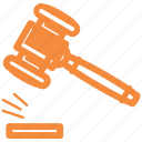 auction, gavel, justice, law icon