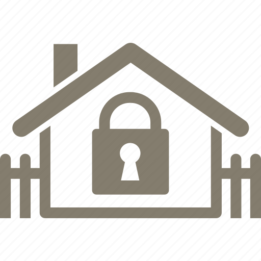home protection, house, real estate, secure icon