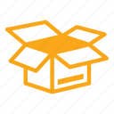 delivery, moving, open box, package, shipment icon